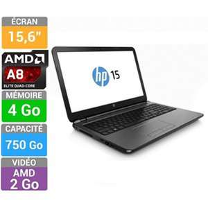 "PC Portable 15.6"" HP 15-G054NF (AMD A8-6410, 4Go RAM, 750Go HDD, Radeon HD 8570M)"