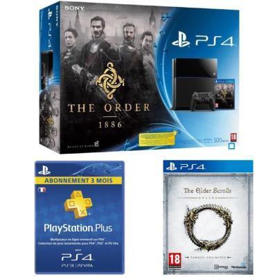 Pack PS4 + The Order 1886 + The Elder Scrolls + 3 mois de PS+