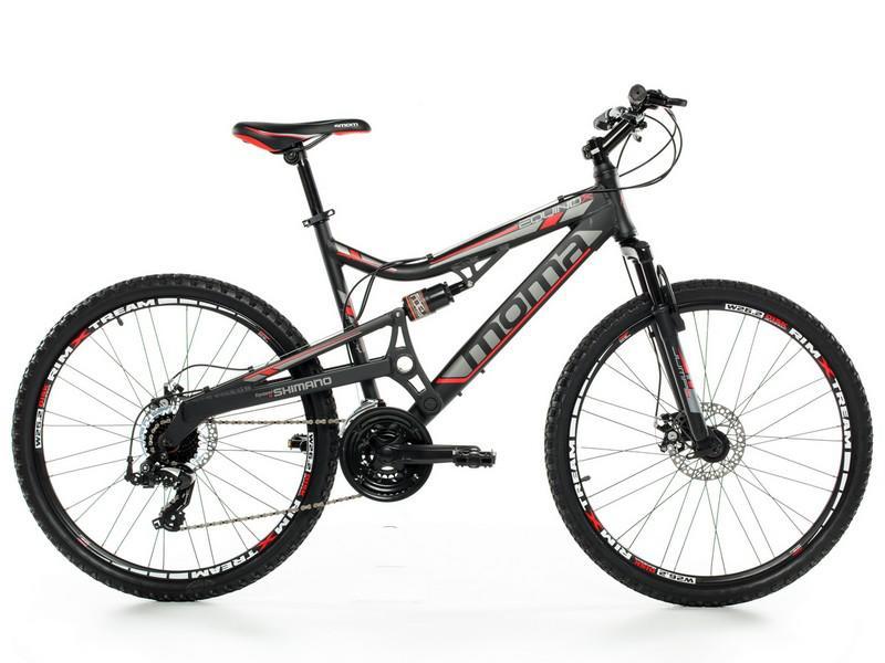 """VTT 26"""" MOMA Mountain bike (Aluminium, freins à disque)"""