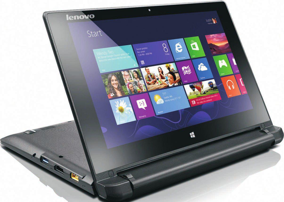 """PC portable tactile 10""""  Lenovo Flex 10 (Celeron N2807, 2 Go RAM, 320 Go)"""