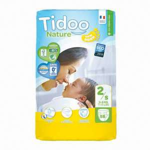 58 Couches Ecologiques Nature Tidoo - Taille 2-S,  3-6kg