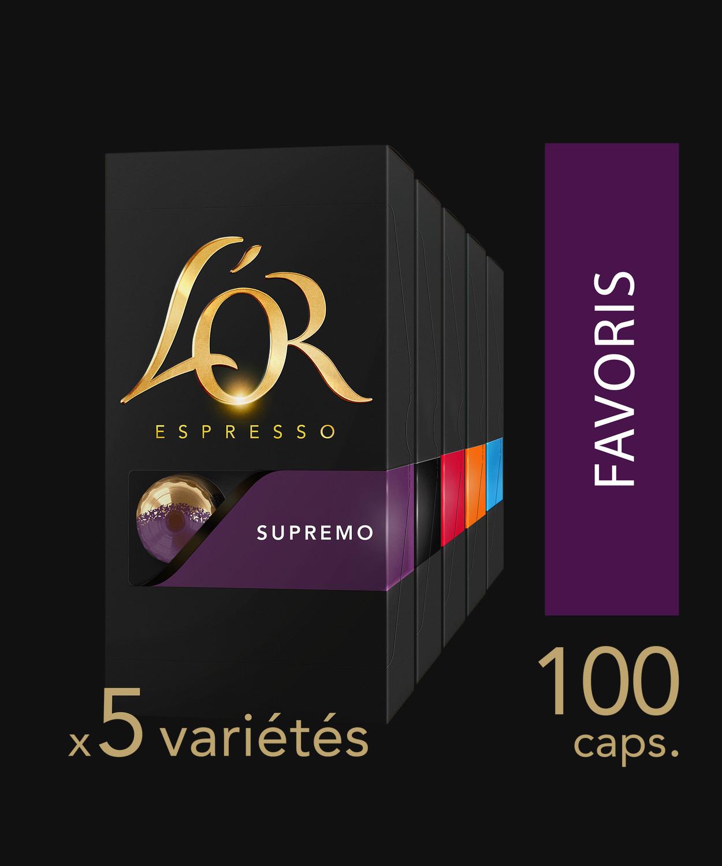 100 capsules de café l'Or Espresso - 5 variétés