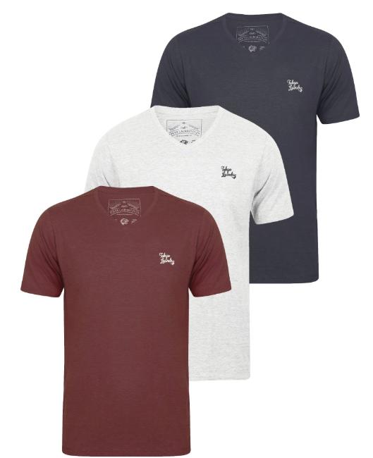 Sélection d'offres - Ex : Pack de 3 T-Shirts pour Homme - Plusieurs Coloris (Col en V ou Rond)