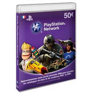 Carte Playstation Network (50€)