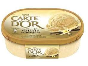 Bac glace Carte d'Or - Parfum Vanille Madagascar (50 % sur la carte + 0.80 € BDR)