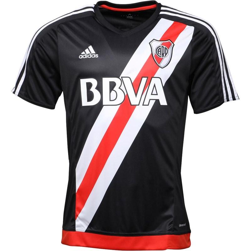 Maillot de Football Adidas River Plate Third 2016-2017 pour Homme - Noir (Taille au choix)