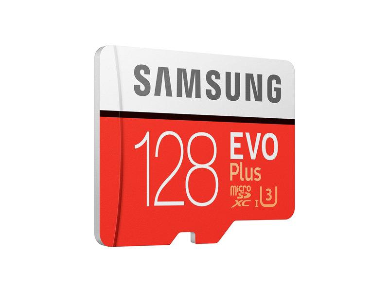 Carte Micro SDXC Samsung Evo Plus U3 128 Go + Adaptateur SD (26,20€ avec le code id5mm)