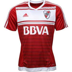 Sélection de maillots de football clubs en promotion - Ex : Adidas CARP River Plate Away pour Homme - Rouge