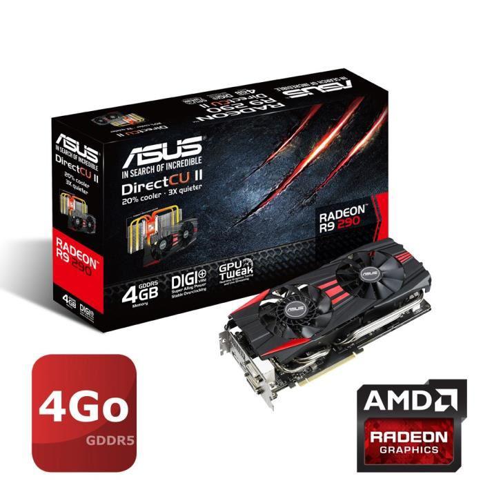 Carte graphique Asus Radeon R9 290 - 4 Go + DiRT Rally Offert