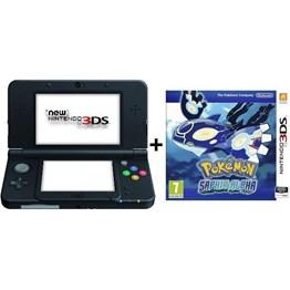 Console New 3DS XL Noire + Pokémon Alpha Saphir