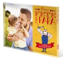 Sélection d'objets personnalisables Fête des pères - Ex: Bloc de Verre