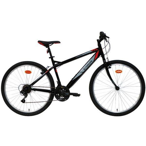 Vélo VTT Mountain 30 Toplife Cadre acier 26'',Fourche rigide, Dérailleur arrière Saiguan