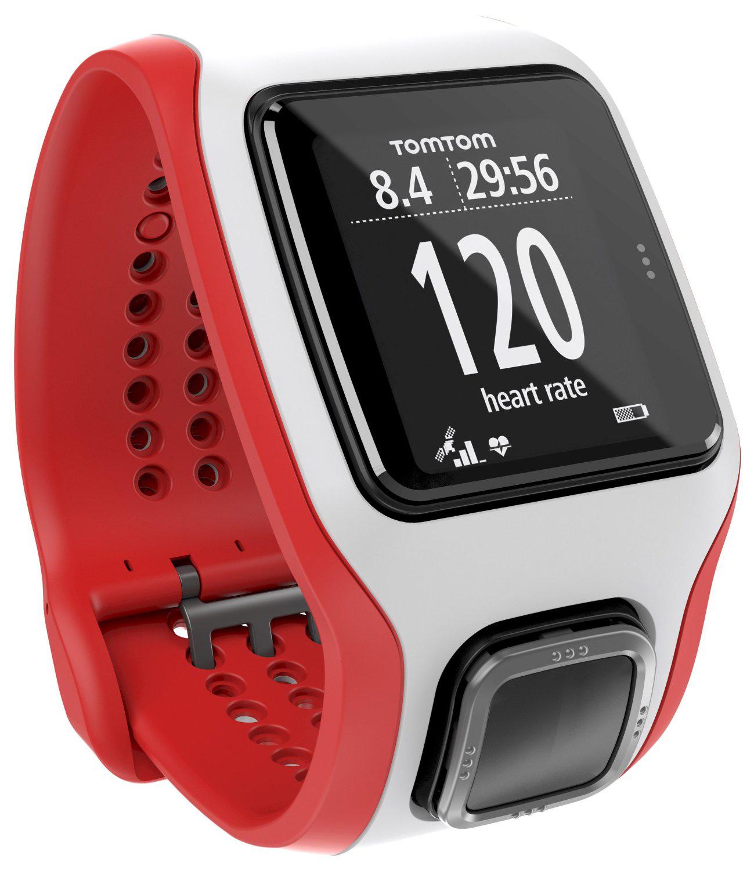 Montre GPS TomTom Runner Cardio - Blanc/Rouge