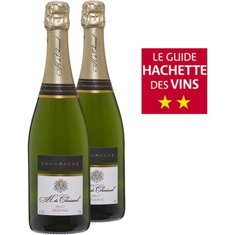 Lot de 2 Bouteilles de Champagne Brut Hélène de Choiseul Réserve - 2x75cl