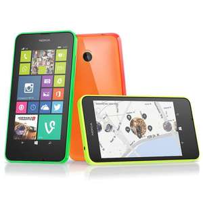 "Smartphone 4,5"" Nokia Lumia 635 Blanc, Vert & Jaune + 25€ d'applications offerts (via ODR de 50€)"