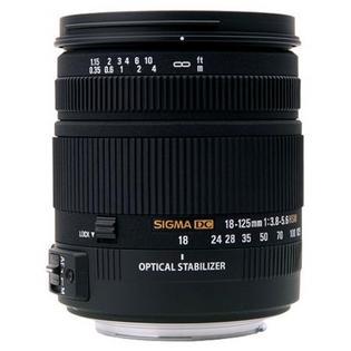 Objectif Sigma 18-125 f/3.8-5.6 DC OS HSM monture Nikon (ou canon voir description)