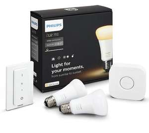 kit de d marrage philips hue 2 ampoules white ambiance t l commande pont v2. Black Bedroom Furniture Sets. Home Design Ideas