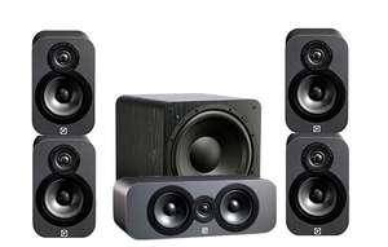 Kit Enceintes 5.1 Q-Acoustics 3000 Cinema Pack + SVS SB-1000 - Walnut ou Graphite