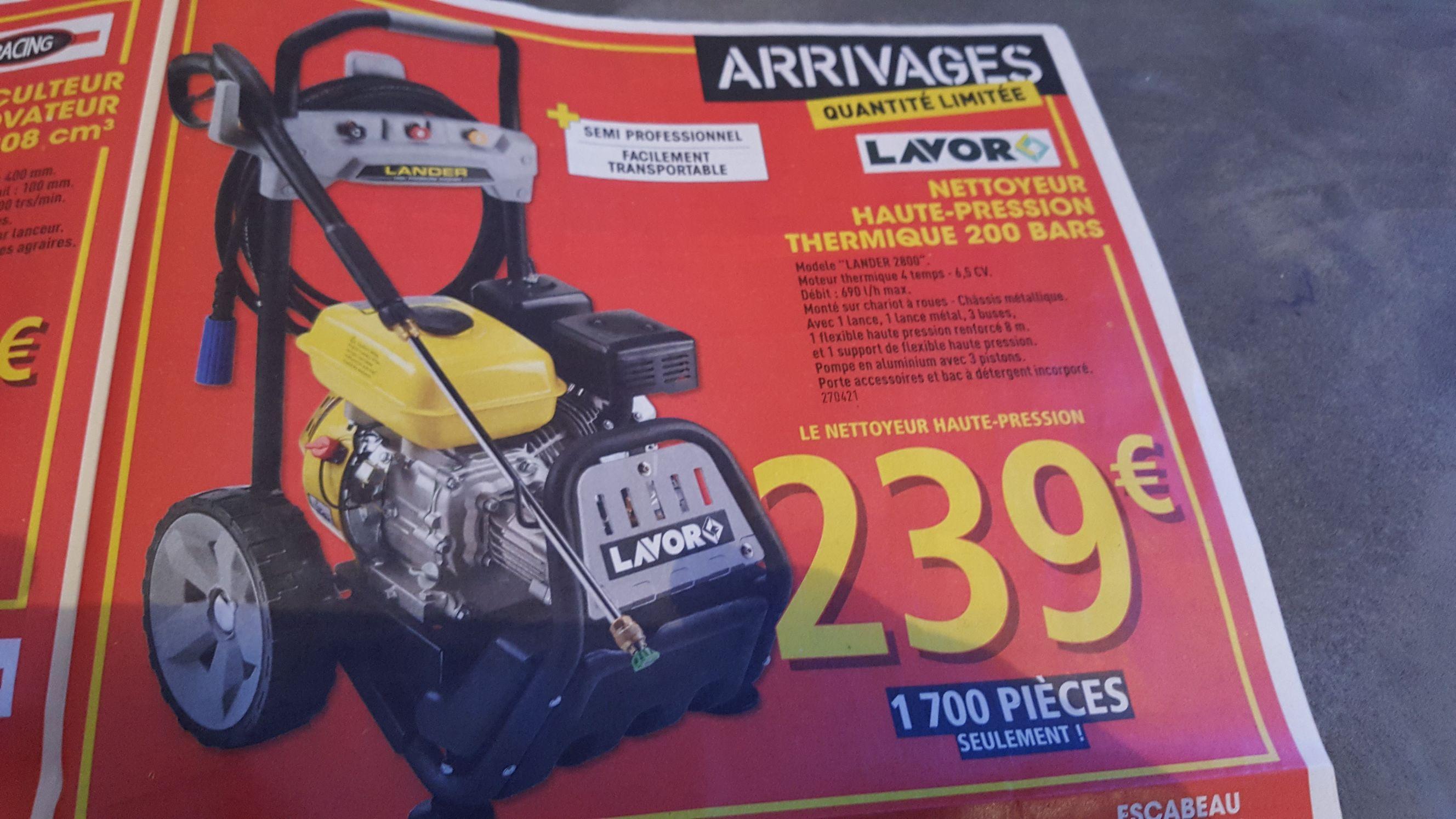 Nettoyeur thermique Lavor 2800 - 200 Bars