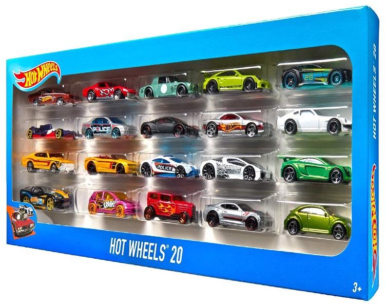 Coffret Hot Wheels H7045 (Modèles aléatoires) - 20 Véhicules Miniatures