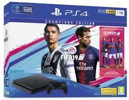 [Précommande] Pack Console PS4 Slim (Noir) - 1 To + FIFA 19 Edition Champions