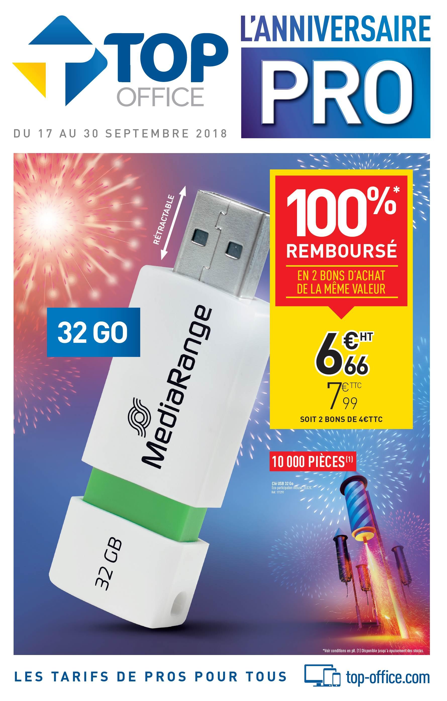 Clé usb Mediarange - 32Go  + 2 Bons d'achat de 4€