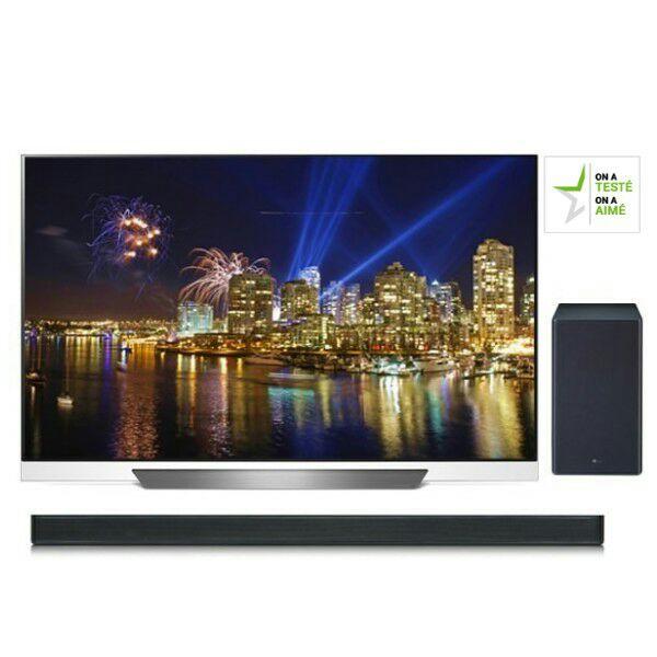 """Pack TV 55"""" LG OLED 55E8 + Barre de son LG SK8 (via ODR 300€)"""