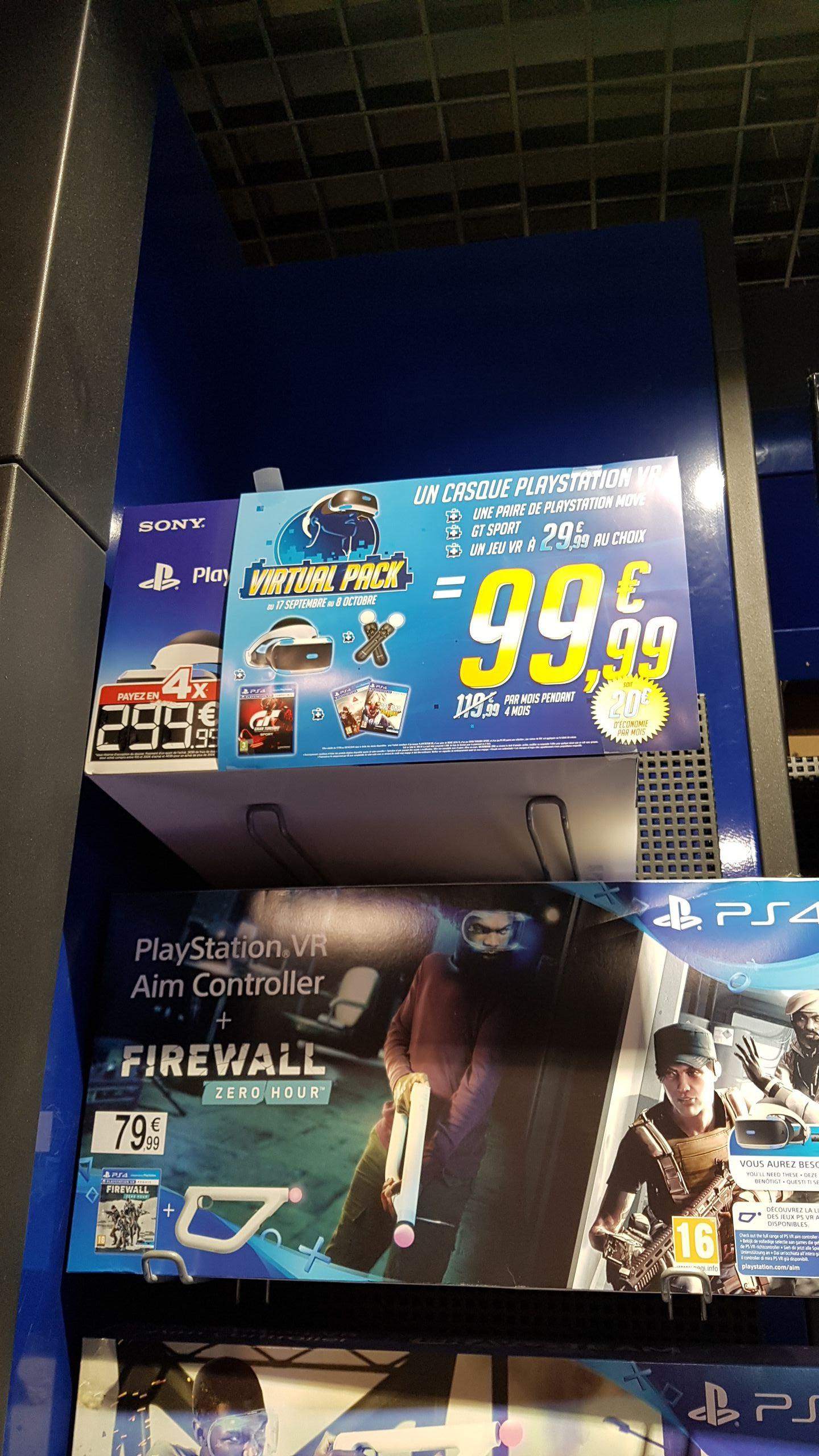 Pack PS VR V2 + GT sport + 2 PS Move + 1 jeu VR à 29.99€ au choix