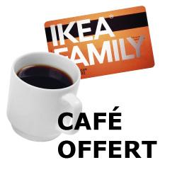 Café gratuit avec le carte ikea family