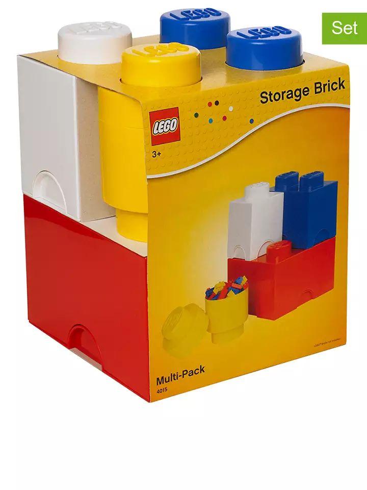 Lot de 4 briques de rangement Lego Brick
