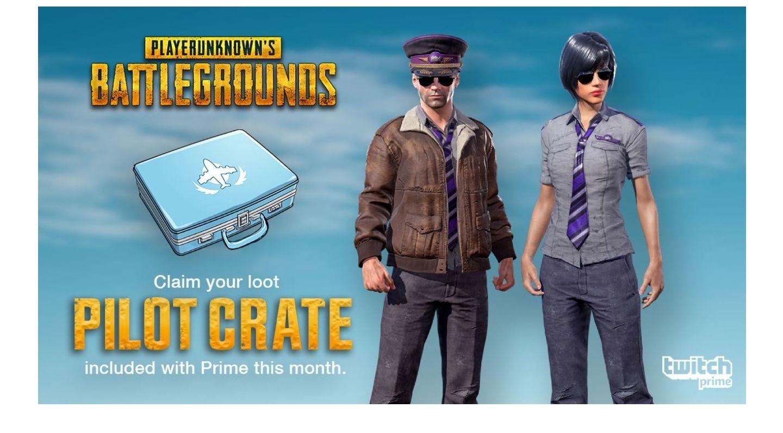 [Amazon / Twitch Prime] Box Pilot Crate pour PlayerUnknown's Battlegrounds (PUBG) offerte (Dématérialisé)