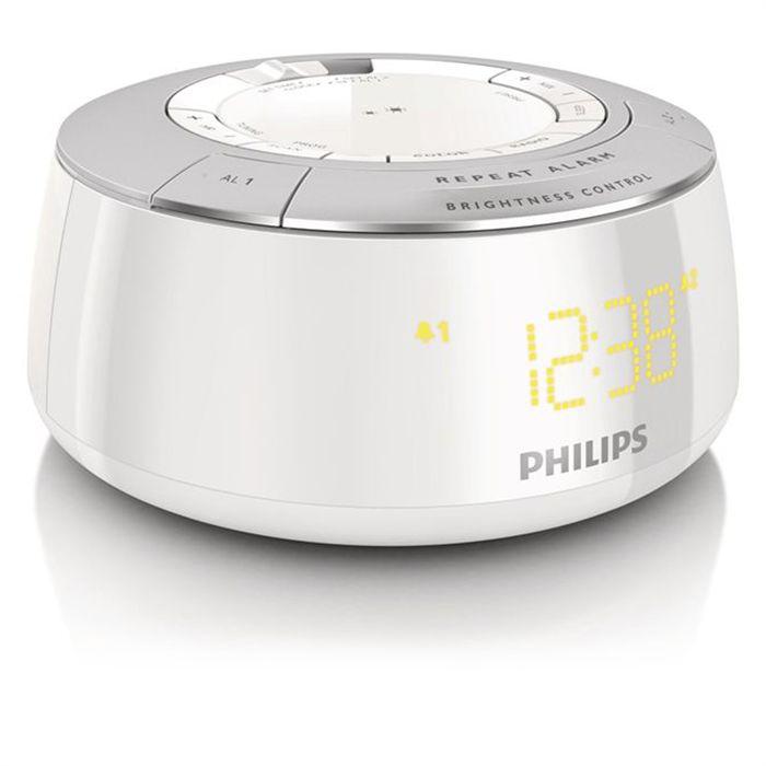 Radio Réveil Tuner FM Philips AJ5000 Blanc
