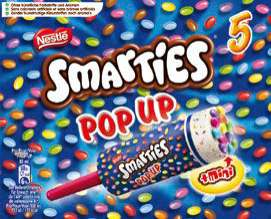Glaces Smarties Pop Up (x5)