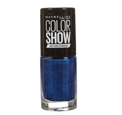 Sélection de Vernis L'Oréal et Gemey Maybelline en Promotion - Ex :  Colorshow Bleu