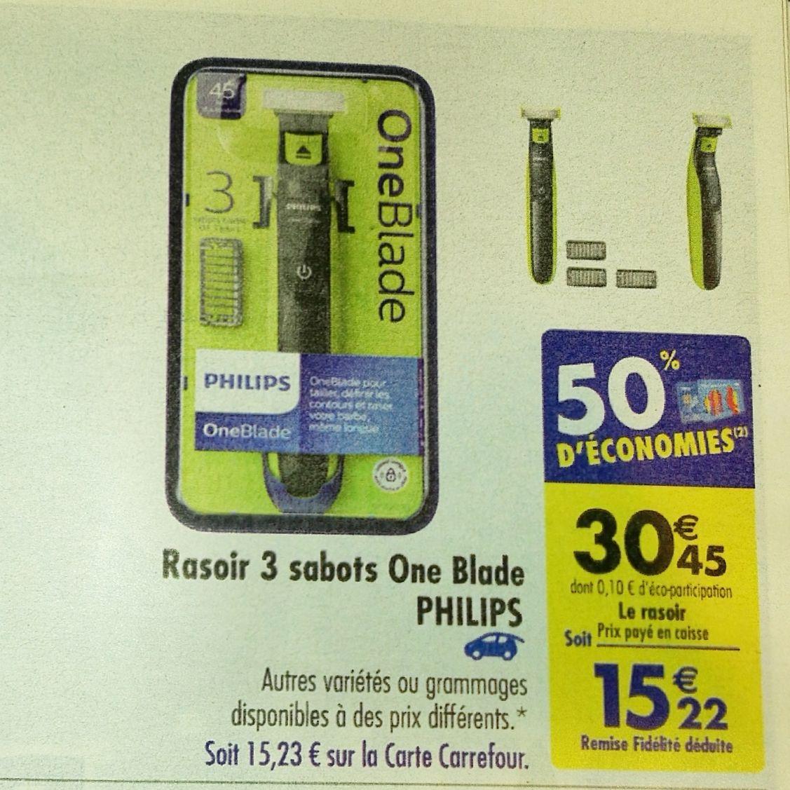 Rasoir 3 sabots OneBlade Philips (via 15.22€ sur la carte fidélité)