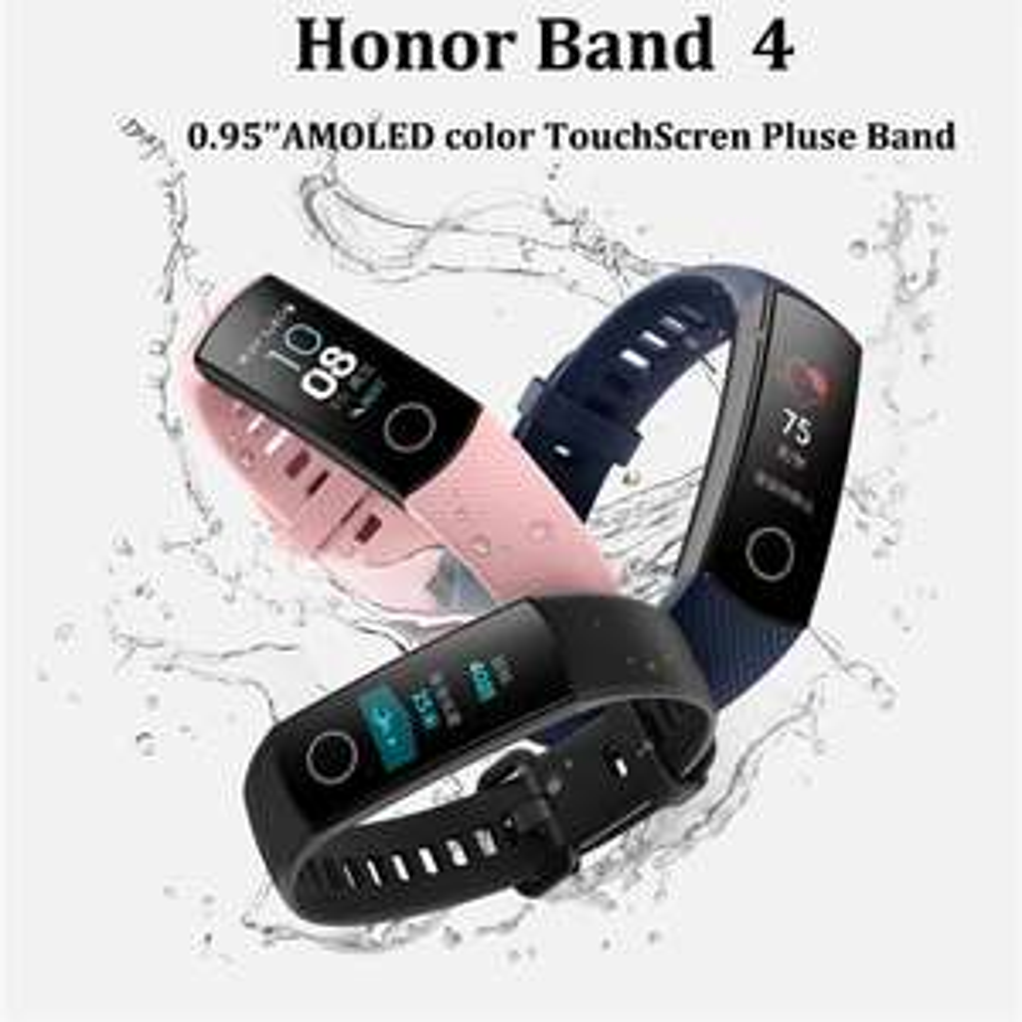 Bracelet connecté New Honor Band 4 (Version International, Plusieurs coloris)