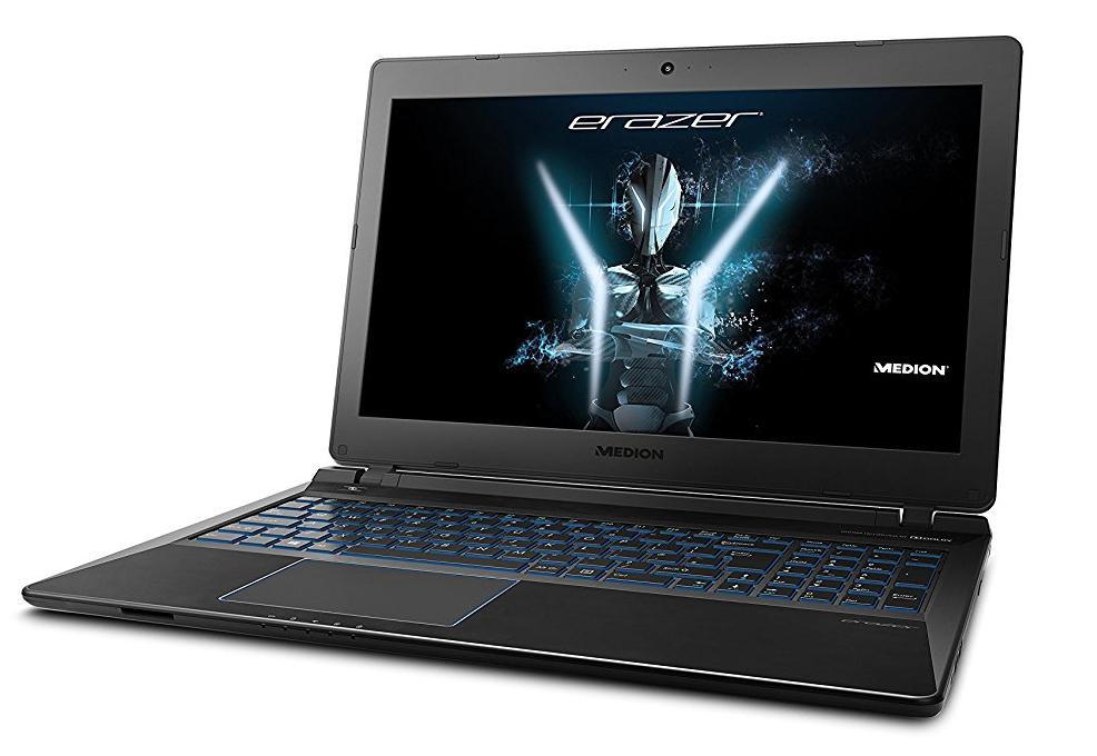 """PC Portable 15.6"""" Medion Erazer P6689 - i7-8550U, 8 Go de RAM, 1 To HDD + SSD de 128 Go, GeForce GTX 1050 4 Go, Clavier QWERTY"""