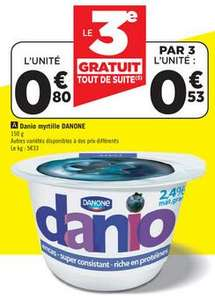 Le lot de 3 Danio divers parfums (Via bon de réduction)