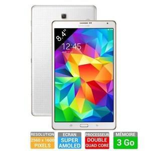 "Tablette 8.4"" Samsung Galaxy Tab S -  4G - Blanche"