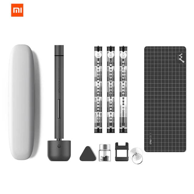 Kit 64-en-1 Xiaomi : Tournevis électrique Wowstick 1F+ avec 56 Embouts et Accessoires