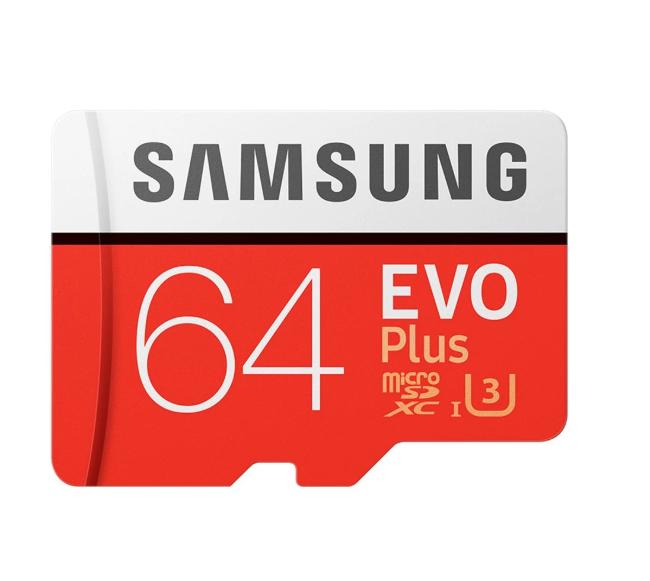 Carte Micro SDXC Samsung Evo Plus U3 Classe 10 - 64 Go