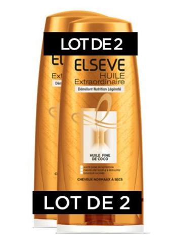 Lot de 2 Après-shampooing huile extraordinaire Elsève - 2 x 200Ml (via 4.04€ sur la carte) - Givors (69)