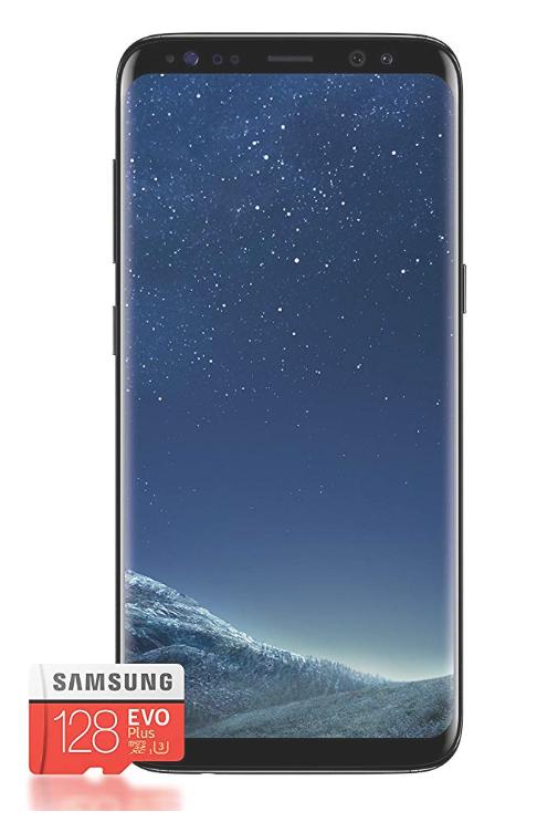 """Smartphone 5.8"""" Samsung Galaxy S8 - 4 Go de RAM, 64 Go (Plusieurs coloris) + Carte mémoire Micro SDXC Samsung Evo Plus U3 - 128 Go"""