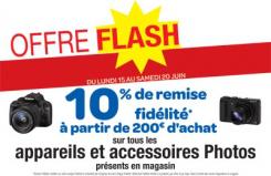 10% de remise fidélité à partir de 200€ d'achat sur tous les appareils et accessoires photos