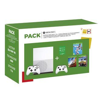 Console Microsoft Xbox One S 1To + FIFA 19 + Forza Horizon 4 (Dématérialisé) + PUBG (Dématérialisé) + 2ème manette + Carte Xbox Live 3 mois