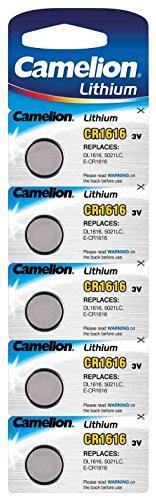 Pack de 5 piles CR1616 Camelion Lithium - 3V (vendeur tiers)