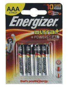 [Panier plus] 8 Piles Alcaline Energizer - AAA - Ultra+ (LR03)
