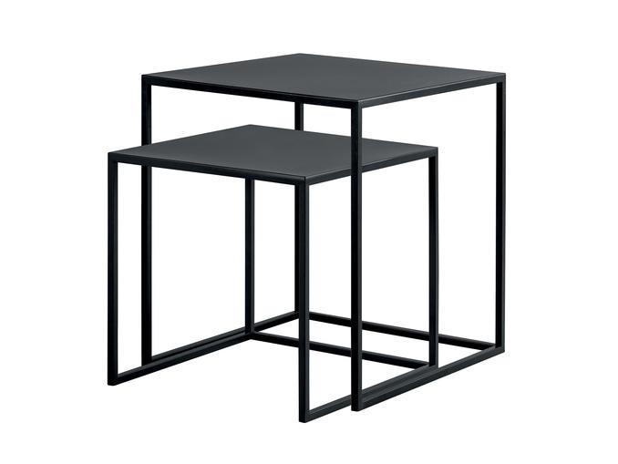 Set de 2 tables d'appoint gigogne - Noir