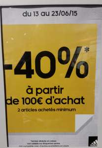 40% de réduction sur l'outlet