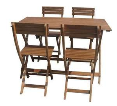 Ensemble de mobilier de jardin pliable 4 places : 1 table et 4 ...